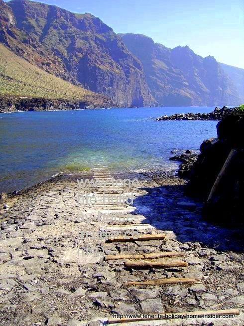 Boat mooring at Masca bay, as per Tenerife legend.