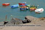 Boat pier San Andres Tenerife Playa de las Teresitas bay