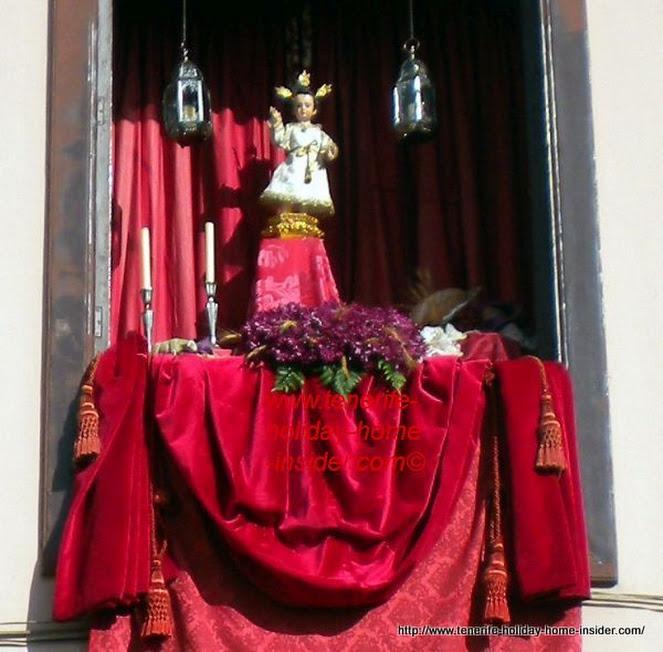 Body of Christ window decoration La Orotava