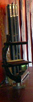 Book stand made with strong curbed drift wood