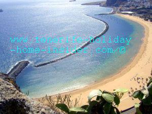 Breakwater of Playa de las Teresitas Tenerife