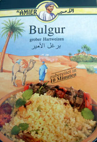 bulgur health food packaged and imported
