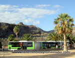 Bus terminal Teresitas with green Titsa bus