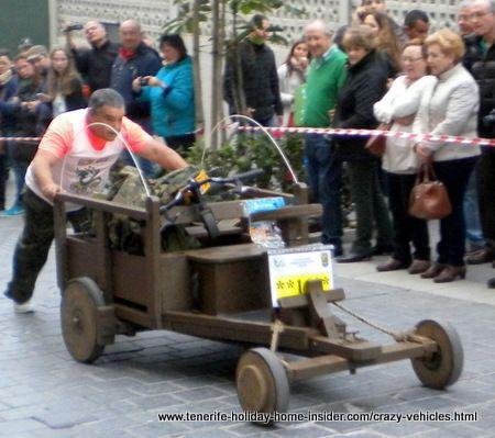 Cabildo carro loco car  made of timber for carnival