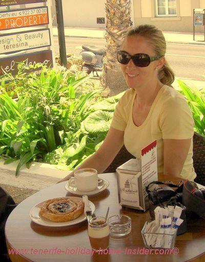 Cafe by Hotel Botanico of Puerto de la Cruz.