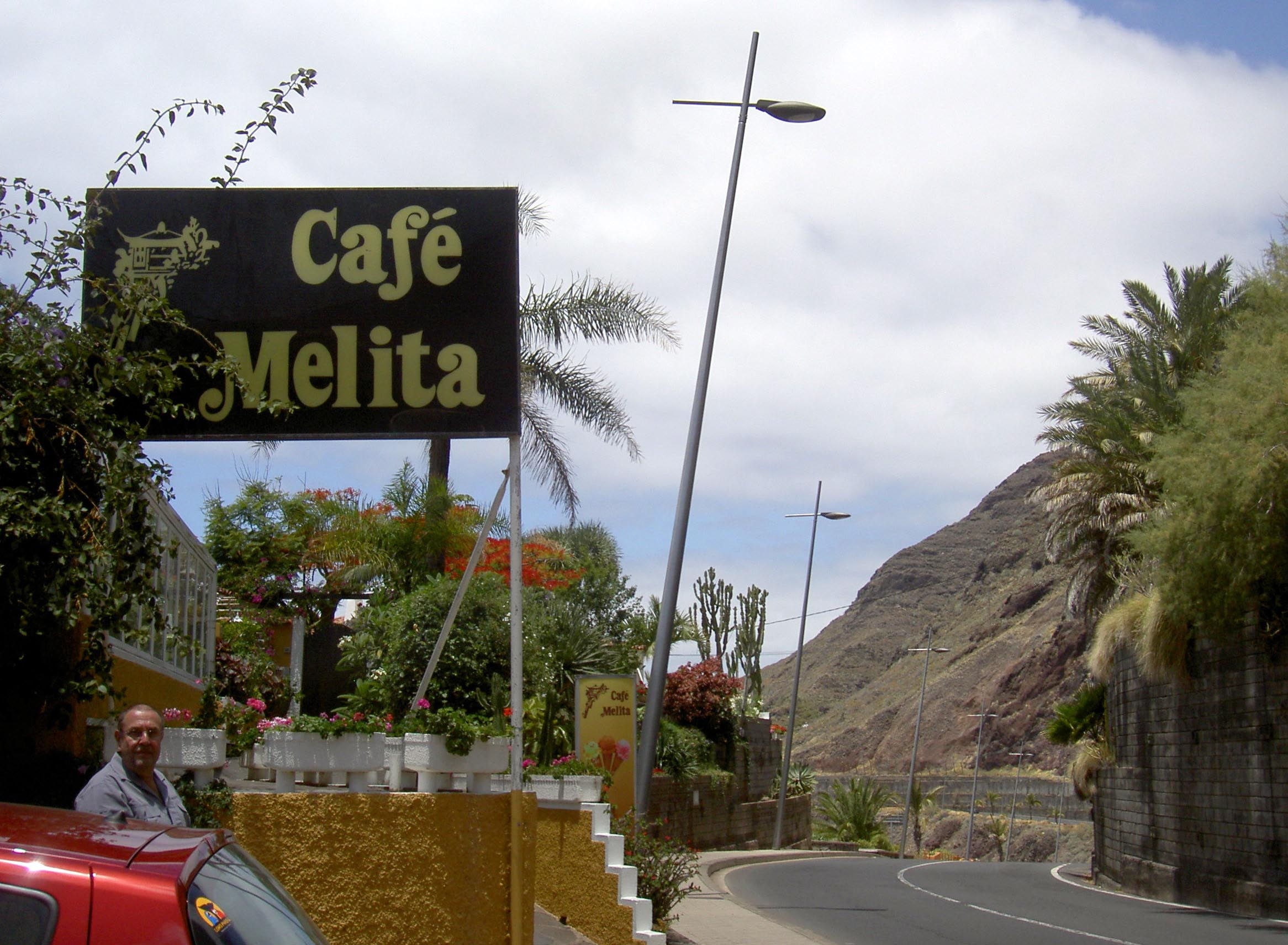 Cafe Melita the founder of the Franchise by that name. It's by Playa beach el Arenal near Punta de Hidalgo Tenerife known for good cakes and Melitta Filter Coffee.