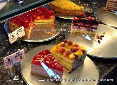 cafe paris cakes in puerto de la cruz