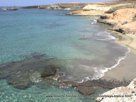 Caleta blanca Tenerife South a pristine beach