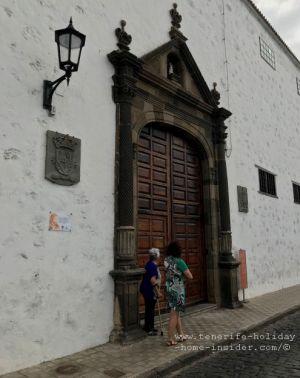 Calle Esteban de Ponte  with Garachico  convent portal of Franciscan Concepcionista nuns
