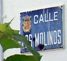 Calle Los Molinos a road sign is still proof that there was more than one mill called Molino on Hacienda de Los Principes.