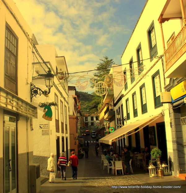 Calle San Sebastian main pedestrian street and open zone shopping center with bars and restaurants.