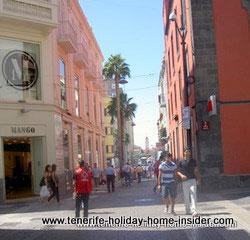 Calle Valentin Sanz important Santa Cruz Tenerife street