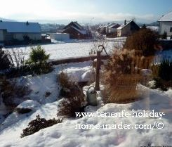 Canadian village in winter
