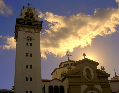 Candelaria Tenerife miracle town of the Black Madonna virgin.
