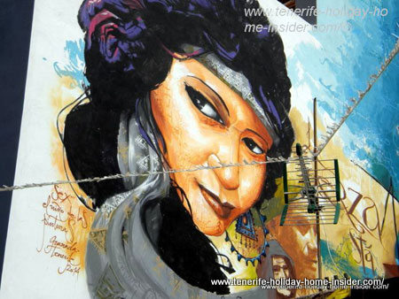 Carmen Amaya on street art in Tenerife Spain