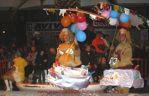 Carnival bikinis costumes of tenerife