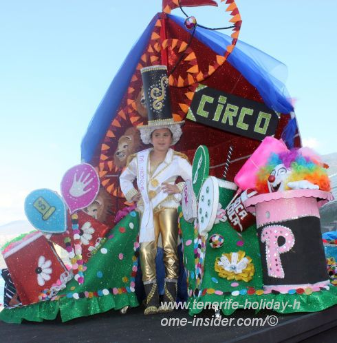 Carnival circus theme on a float