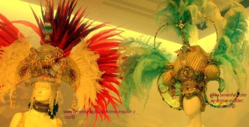 Carnival hats of Santa Cruz de Tenerife at Casa del Carnaval.