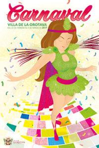Carnival La Orotava 2017 Poster - Motto Carnestolendas
