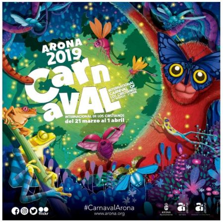Carnival poster 2019 of Arona Playa de las Americas designed by Nareme Melián