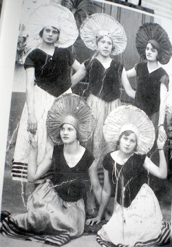 Vintage carnival photo from 1920 taken in Cruz Santa.