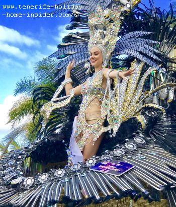 Carnival princess of 2019 of Puerto de la Cruz