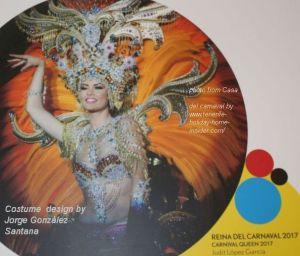 Carnival queen of Tenerife of 2017 Judit Lopez Garcia.