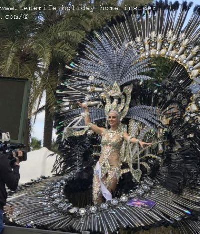 Carnival queen runner up of Puerto de la Cruz 2019
