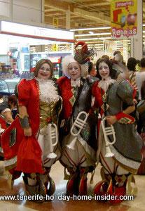 Santa Cruz Spain night carnival at Alcampo shops La Laguna