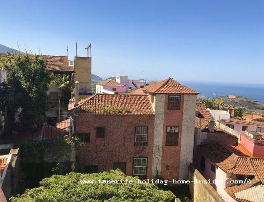 Casa de Los Balcones Tenerife rear side opposite Restaurante Victoria of La Orotava