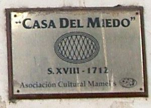 Casa del Miedo wall plaque