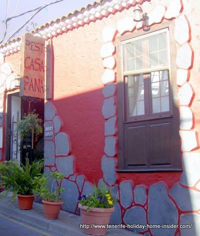 Casa Pana restaurant attractive outside facade at Chasna of Abona.