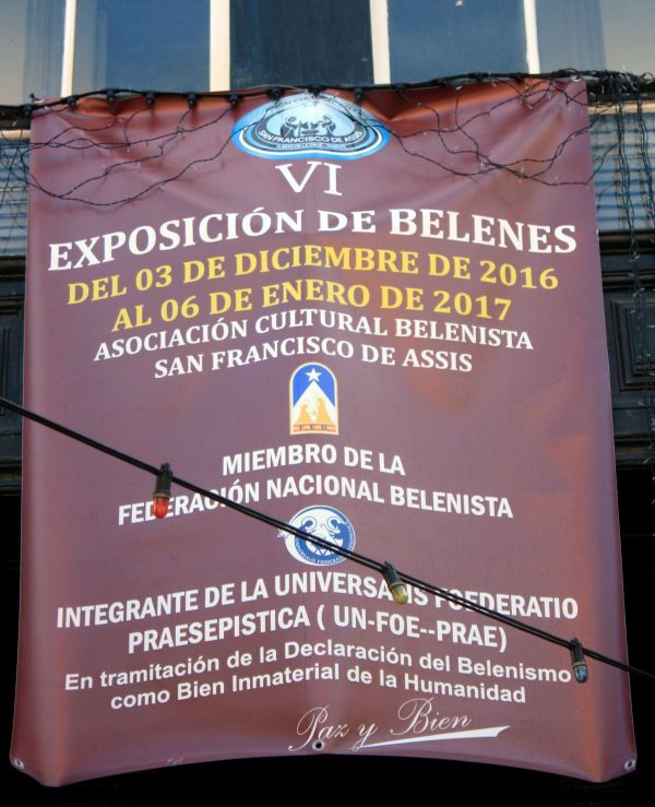 Casa Ventoso event poster for its Belenes nativity scenes.