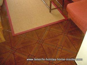 Tiled floor looking like parquet