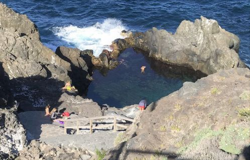 Charco La Laja a San Juan de la Rambla Tenerife tide pool in its breathtaking but dangerous setup