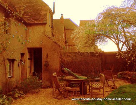 Charming cottage garden in UK