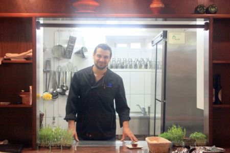Chef Alfonso Borges at Hotel Rural Victoria of La Orotava Tenerife.