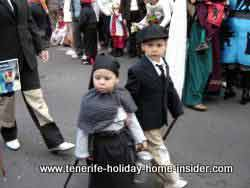 Carnival children dressed almost in black
