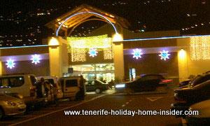 Christmas celebrations by led lights entrance Alcampo