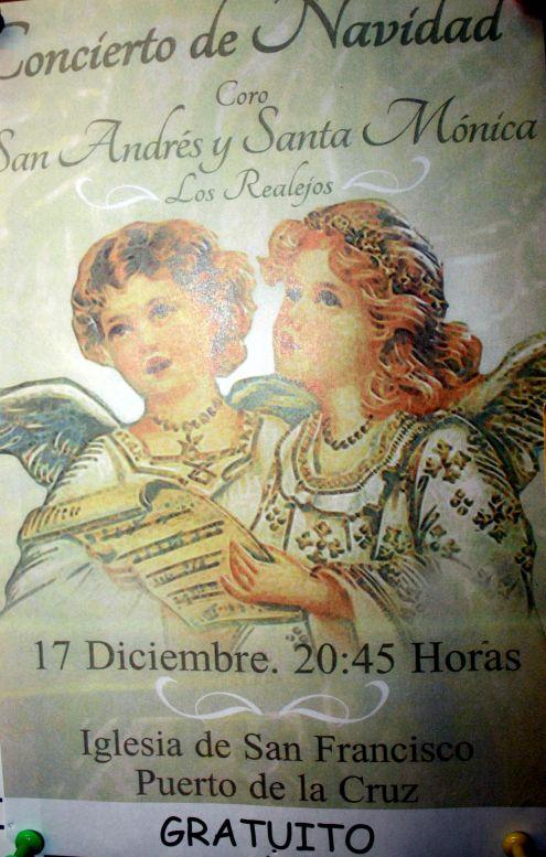 Los Realejos Christmas Carol concert December 17 of 2017 in Puerto Cruz