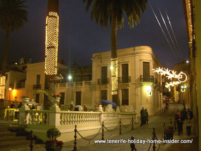 Christmas picture of town hall Orotava