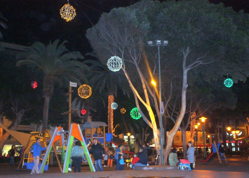 Christmas playground on the main town square