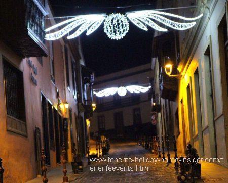 Christmas town street scene Orotava