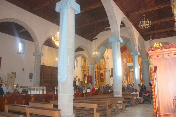 The Interior of Iglesia de la Concepcion a Catholic church which was declared a monument of cultural interest by BIC in 2003 for Los Realejos.