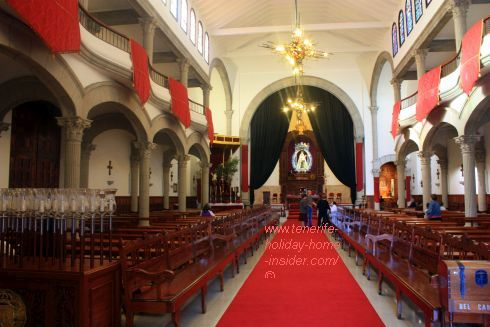 Church Our lady of Mount Carmel Sanctuary (Iglesia de Nuestra Senora del Carmen)of Tenerife in Los Realejos.