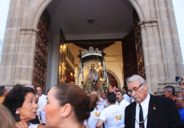 Church procession leaving the Realejos sanctuary at San Agustin.