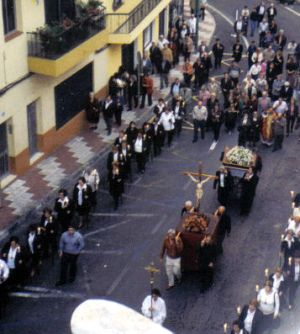 Church procession Los Realejos