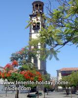 Oldest church tower Santa Cruz Tenerife Iglesia nuestra Senora de Concepcion