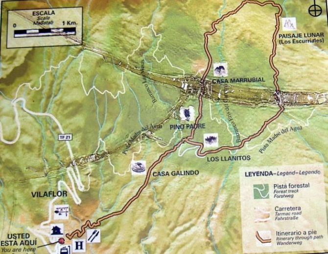 Circular road map F72 including the single track from the main town of Chasna.