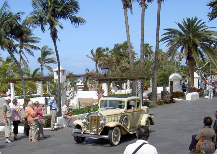 Classic Car Rally in Spain Puerto de la Cruz Tenerife.